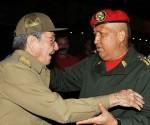 Рауль Кастро и Уго Чавеса