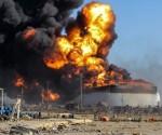incendio en refineria