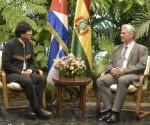 Canel y Evo Morales